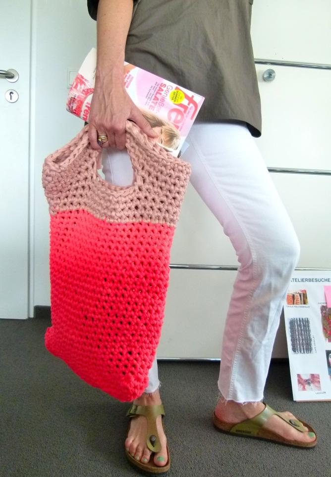 Mein neues Häkelprojekt – eine sommerliche Tasche