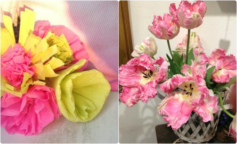 Noch mehr handgemachte Papierblumen und wunderschöne Tulpen